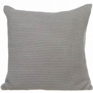 Coussin Gris Clair : coussin tricot 40x40cm gris clair ~ Teatrodelosmanantiales.com Idées de Décoration