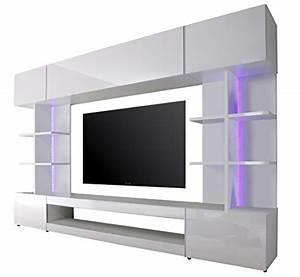 Lowboard Weiß Hochglanz 3m : trendteam tre96101 wohnwand wohnzimmerschrank weiss hochglanz bxhxt 261 x 168 x 37 cm ~ Markanthonyermac.com Haus und Dekorationen