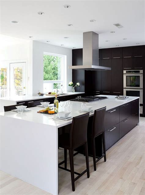 kitchens with black and white floors home interior design black white kitchens 2018 9632