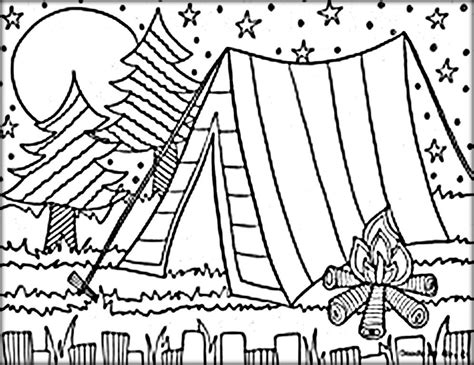camping coloring pages  print federalgrantsource