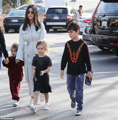 Kourtney Kardashian Cuts Figure In All White In Calabasas
