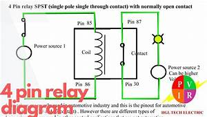 4 Pin Relay Diagram 4 Pin Relay Wiring 4 Pin Relay Animation 4 Pin Relay Connection Wiring Diagram