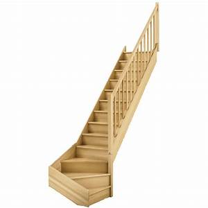 Bois Compressé Leroy Merlin : escalier quart tournant bas droit soft classic structure ~ Melissatoandfro.com Idées de Décoration