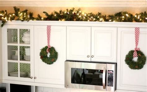 decorating top  kitchen cabinets  christmas home