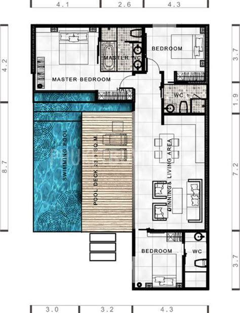 villa house plans lay4524 tropical modern villa with 3 bedrooms phuket