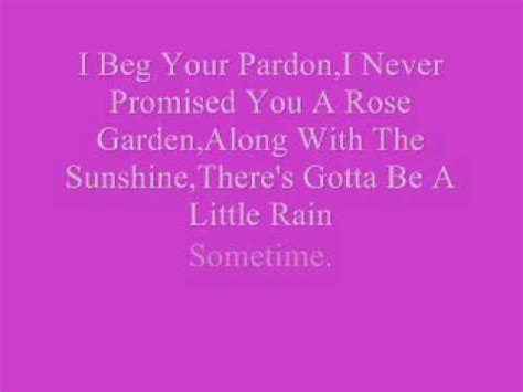 martina mcbride i never promised you a garden lyrics