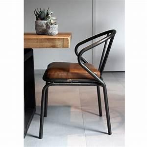 Chaise Vintage Cuir : chaise vintage m tal simili cuir waldorf par ~ Teatrodelosmanantiales.com Idées de Décoration