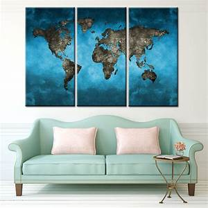 online buy wholesale global canvas from china global With best brand of paint for kitchen cabinets with 3 piece world map wall art