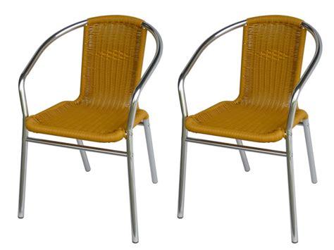 chaise de jardin en resine lot 2 chaises jardin aluminium résine tressée lemonada