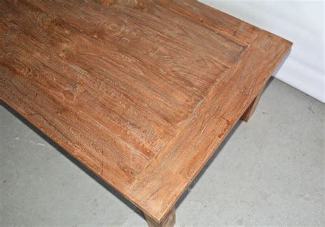 Rustic Indoor Or Outdoor Teak Coffee Table For Sale At Stdibs