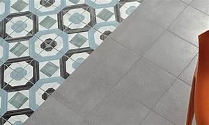 Dalle Pvc Carreau Ciment : dalle pvc imitation carreau de ciment le grand retour des ~ Dailycaller-alerts.com Idées de Décoration