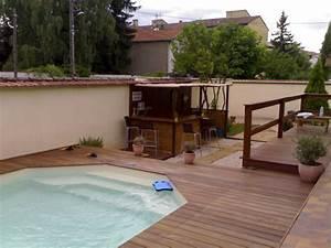 Piscine Sans Margelle : terrasse bois piscine margelle diverses ~ Premium-room.com Idées de Décoration