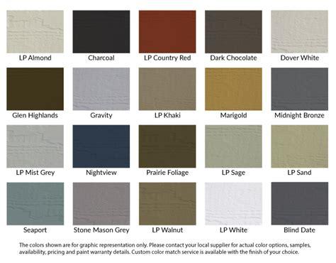 lp color chart bluelinx corporation