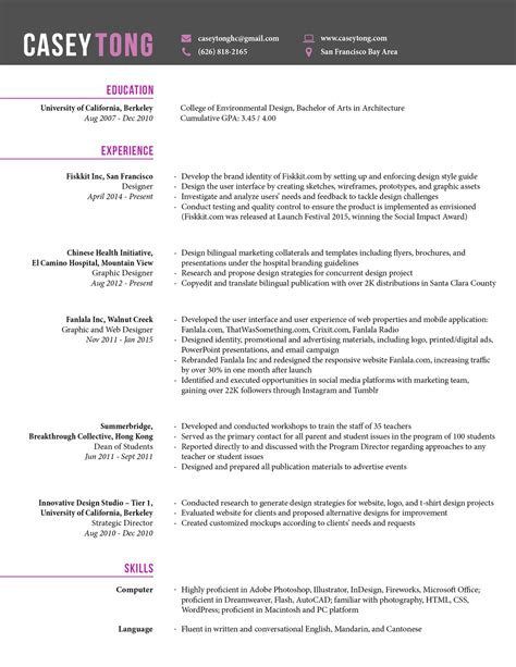 Thank You Much For Reviewing My Resume by R 233 Sum 233 Casey Tong Designer