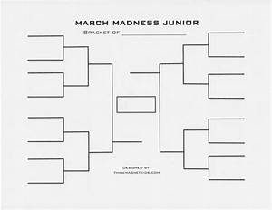 7 best images of sweet 16 blank bracket printable march With blank march madness bracket template