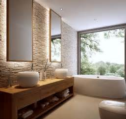 holz badezimmer badezimmer ohne fliesen ideen für fliesenfreie wandgestaltung