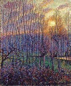 Eragny Art De Vivre : pissarro painting poplars sunset at eragny ~ Dailycaller-alerts.com Idées de Décoration