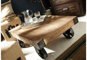 Roue Table Basse : table basse roue leon amadeus amadeus 1659 ~ Teatrodelosmanantiales.com Idées de Décoration