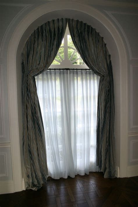 arched window treatments home decoration ideas  circle