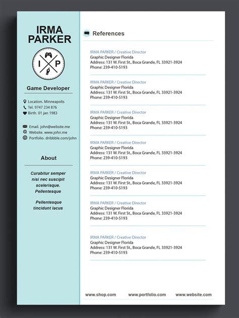Custom Resume Cv by Custom Resume Template Cv Template Photoshop Resume By 41bus