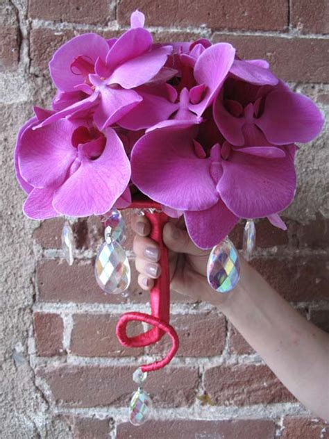 hot pink phalaenopsis orchid bouquets bouquet wedding flower