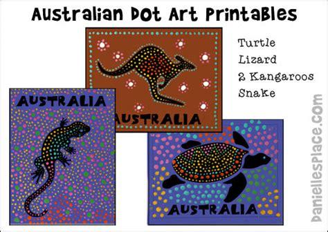 australia day crafts for 818 | australian dot art printables