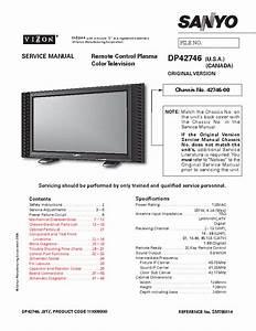 Sanyo Dp42746 Pdp Tv Service Manual Download  Schematics