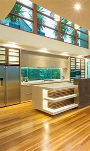 Chris Clout Design modern resort kitchen in the tropical ...