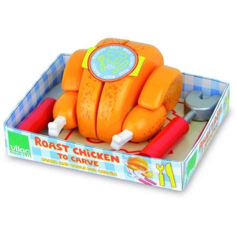 jeux de cuisine poulet poulet rôti en bois à découper jeux et jouets vilac