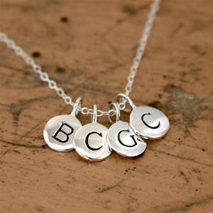 tiny round alphabet letter personalized initial charm With sterling silver initial letter charms