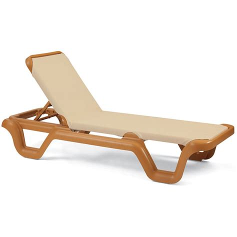 grosfillex chaise grosfillex marina stacking adjustable sling chaise teakwood frame khaki sling 14 per price