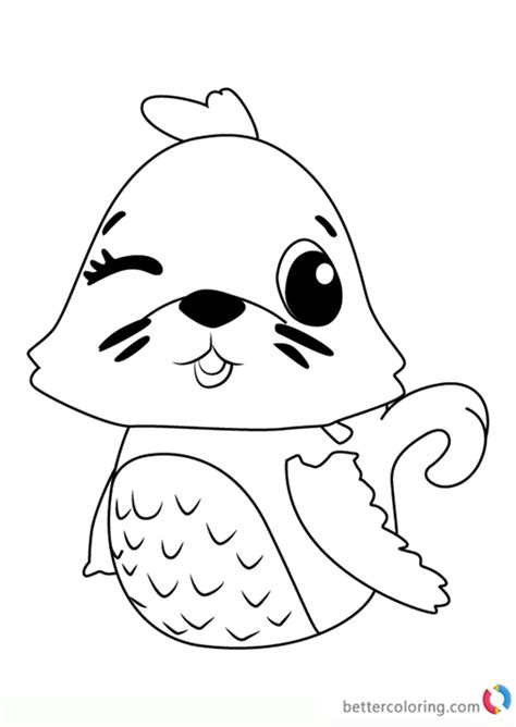 polar sealark  hatchimals coloring pages