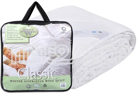 Wooltara Classic Winter Australian Super Warm New Wool Quilt Doona Duvet Blanket Cook Pigs In A Blanket Building Coverage How To Make Quilt Knitted Baby Size Free Knitting Patterns For Blankets Beginners Plisse Cover Circo Knit Florida Gator