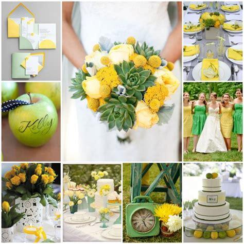 idees mariage jaune  vert decoration forum mariagesnet