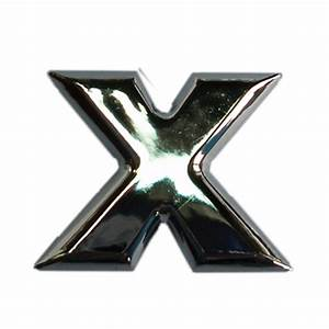 3d relief chrome letter x car styling chrome letters numbers With chrome letters