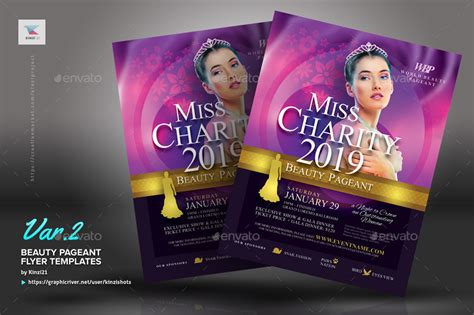 beauty pageant flyer templates  kinzishots graphicriver