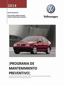 Programa Mantenimiento Preventivo Jetta A4 Volkswagen