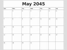 October 2045 Calendar Blank