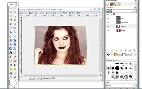 How To Apply Makeup In Gimp  Steps With Pictures Wikihow