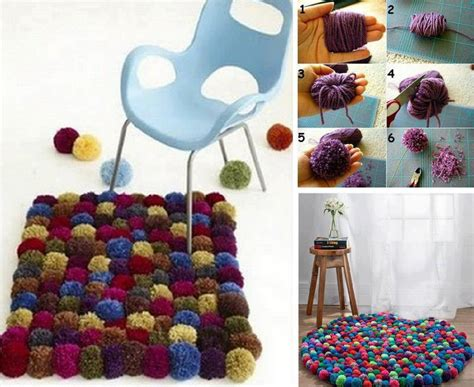 Diy Wool Pom Pom Carpet Diy Projects  Usefuldiycom