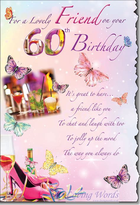 Birthday cards for women friends. Lovely Friend 60th Birthday   Greeting Cards by Loving Words