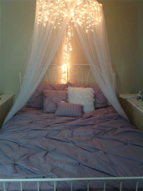 canopy bed diy diy bed canopy icicle lights and a 10 canopy from craigslist sandman s land pinterest