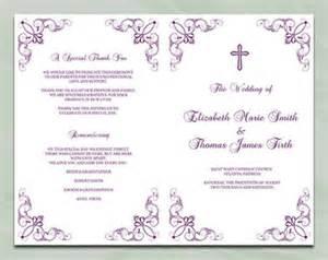 tea length wedding programs templates free catholic wedding program template silver by