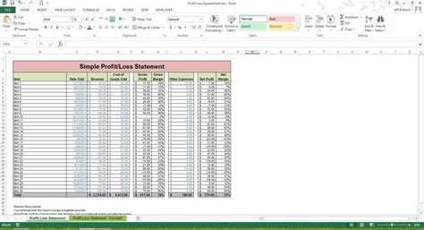 profit and loss excel spreadsheet profits and losses template profit loss spreadsheet