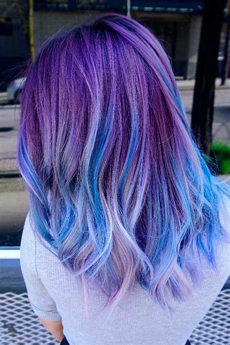 And Blue Hairstyles by 50 Fabulous Purple And Blue Hair Styles Bright