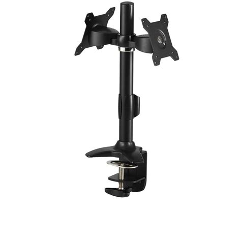 Vesa Desk Mount Pole by Up To 24 Quot Dual Lcd Screen Pole Mount Stand Monitor Bracket