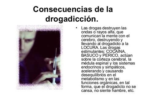 temas de interes el riesgo de las drogas y el consumo de
