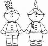 Native Coloring Indian American Pages Pilgrim Thanksgiving Boy Printable Drawing Sheets Gingerbread Worksheets Kindergarten Americans Doll Getcolorings Adults Getdrawings Easy sketch template