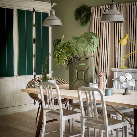 Sage and emerald green dining room   Dining room