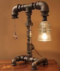 16 Sculptural Industrial DIY Pipe Lamp Design Ideas Able